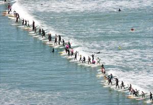 Daugiausia banglentininkų ant vienos bangos